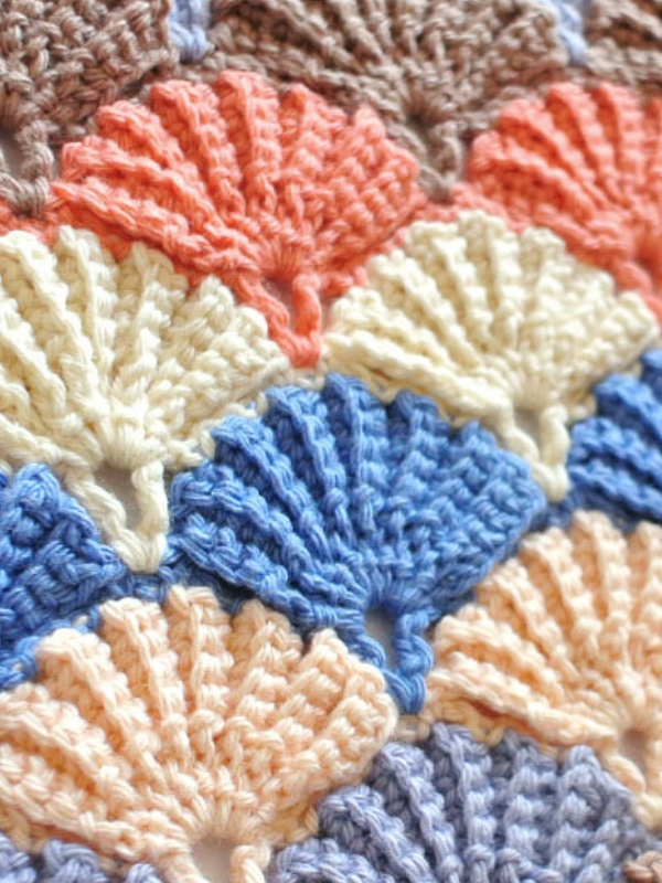 Häkeln Sie Shell Stitch Free Pattern – Stricken Wolle
