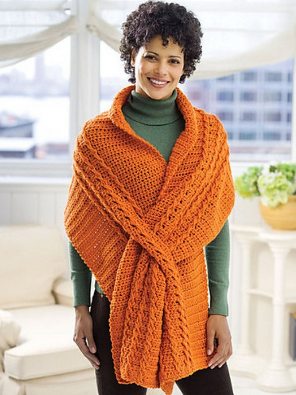 Photo of Wrap With Slits Free Crochet Pattern