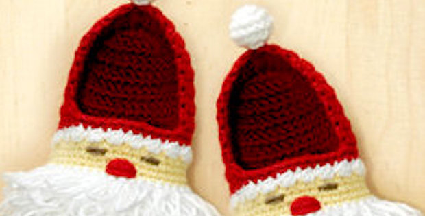 Häkeln Sie Santa Boots Adorable Christmas Crochet – Stricken Wolle