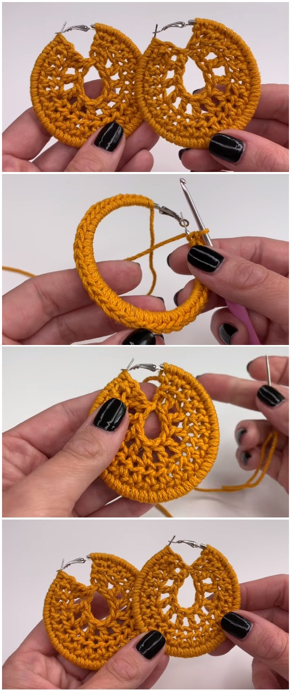 Crochet Easy Beautiful Earrings