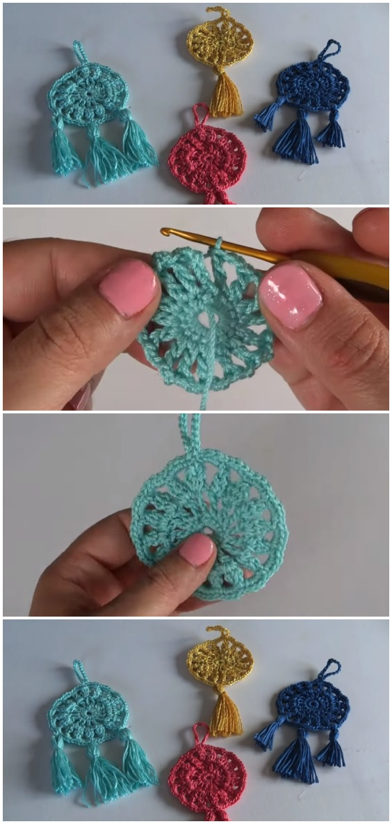 Crochet Super Easy ​​Dreamcatcher Keychain