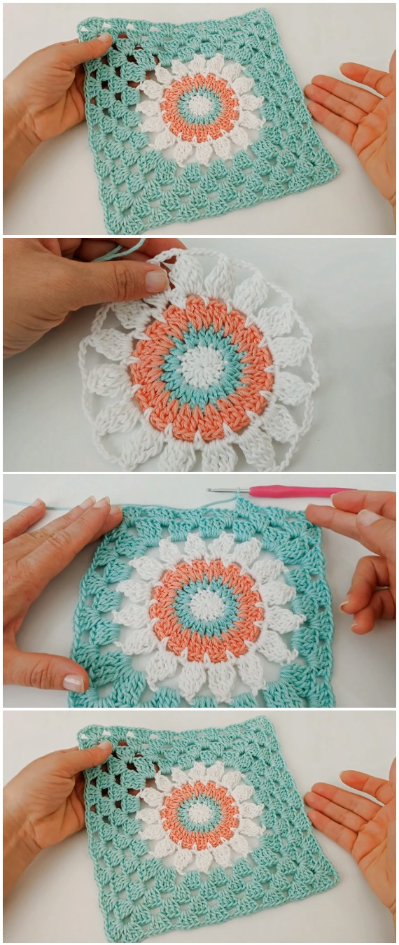 Easy To Crochet Beautiful Granny Square