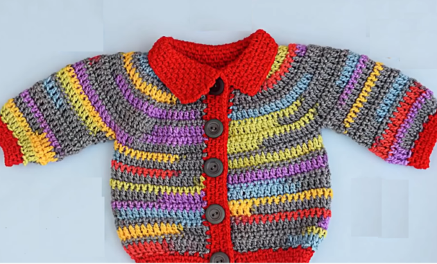 Crochet Very Easy Colorful Jacket
