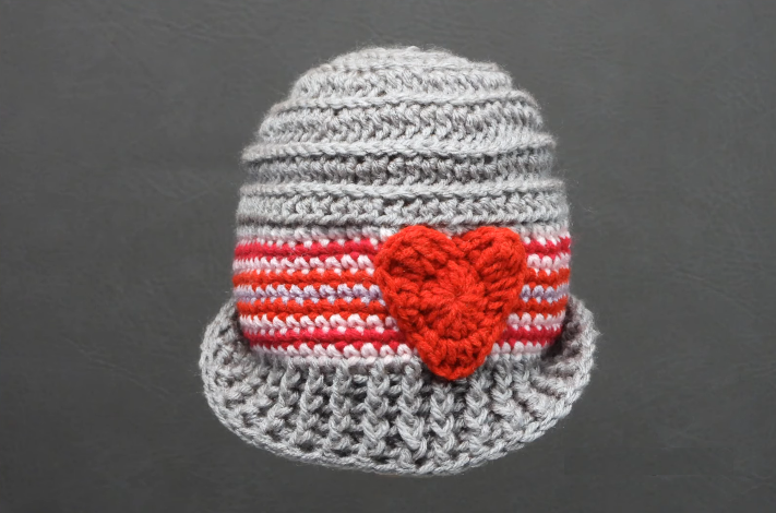 Crochet Sweetheart Baby Hat