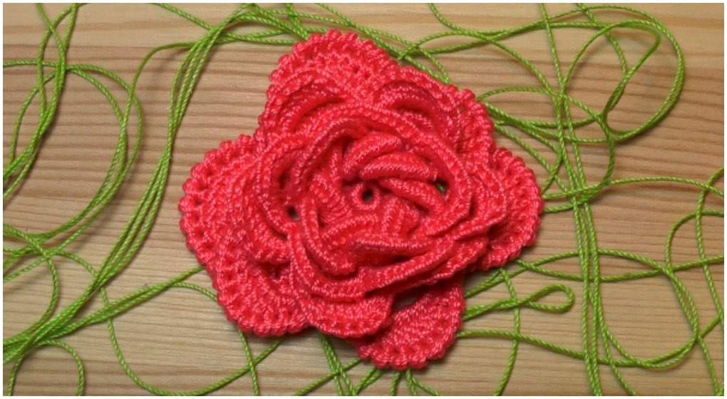 Crochet Easy Flower Rose