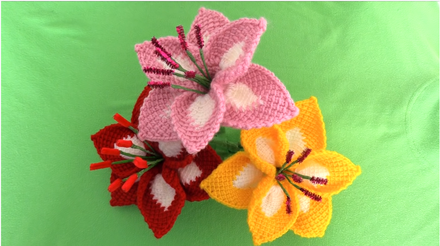 Crochet Easy and Cute Lilies