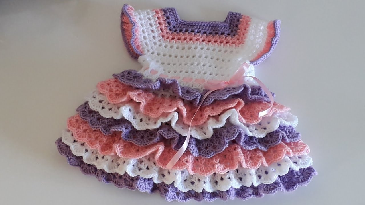 How to Crochet Layered Baby Dress