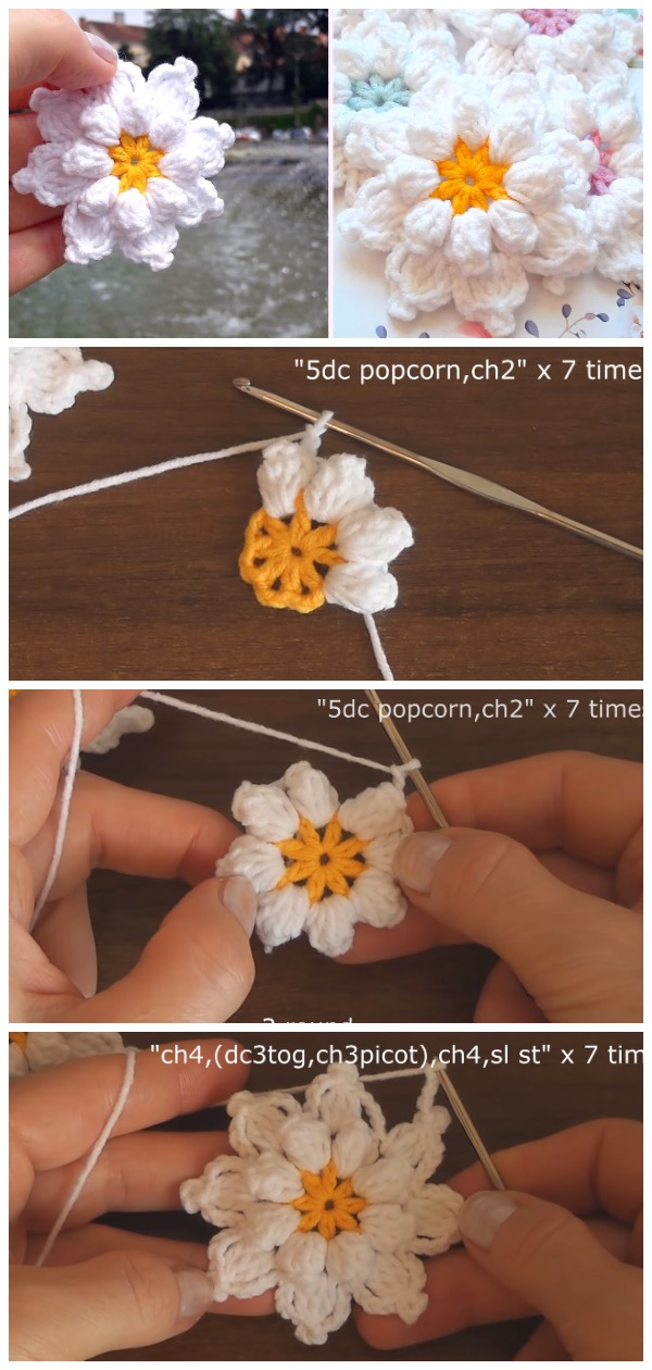 Crochet Very Beautiful Flowers