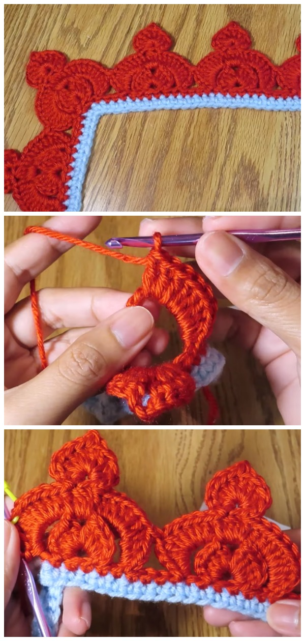 Learn To Crochet Crown Stitch Edging