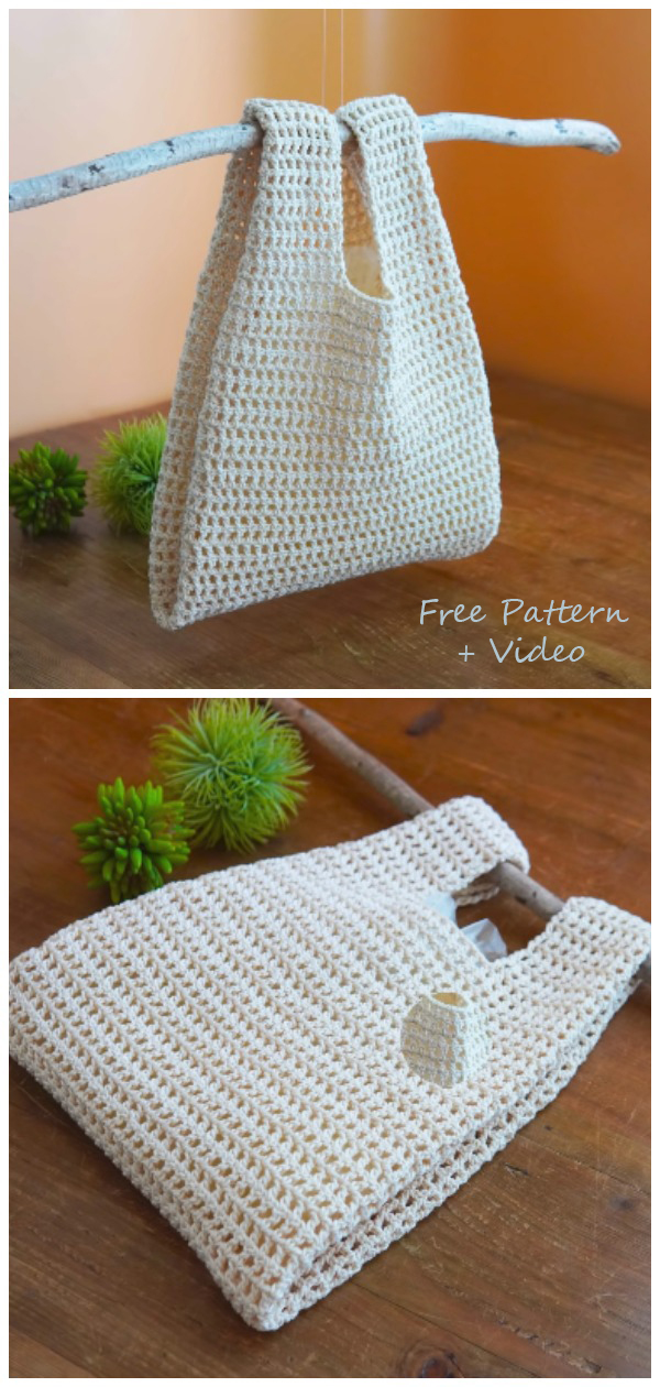 Crochet Bag With Plastic Bag Design