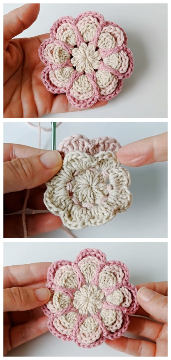 Crochet Easy Roses With Layered Petals