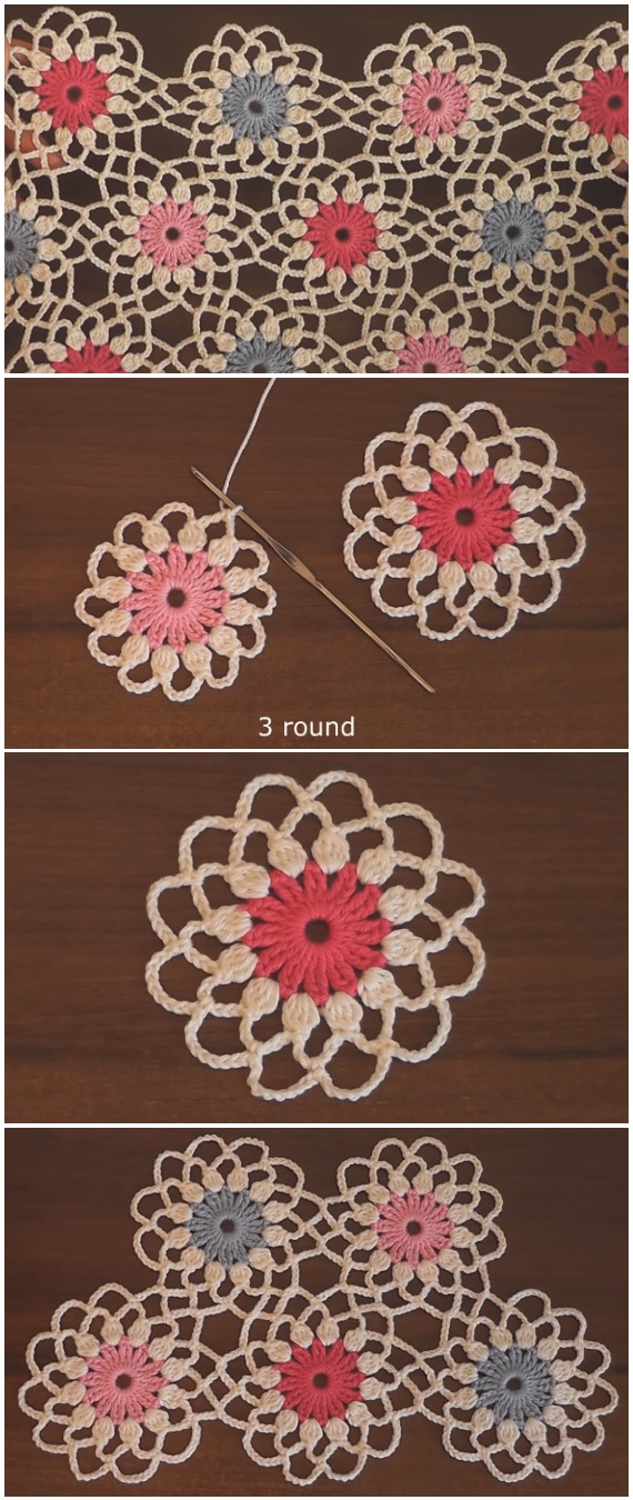 Crochet Flower Motif Blanket