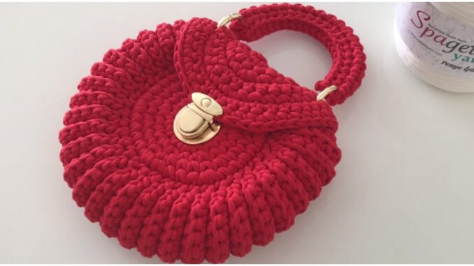 Crochet Easy Round Bag