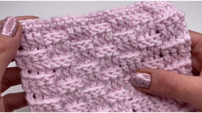 Crochet Basket Weave Stitch Blanket