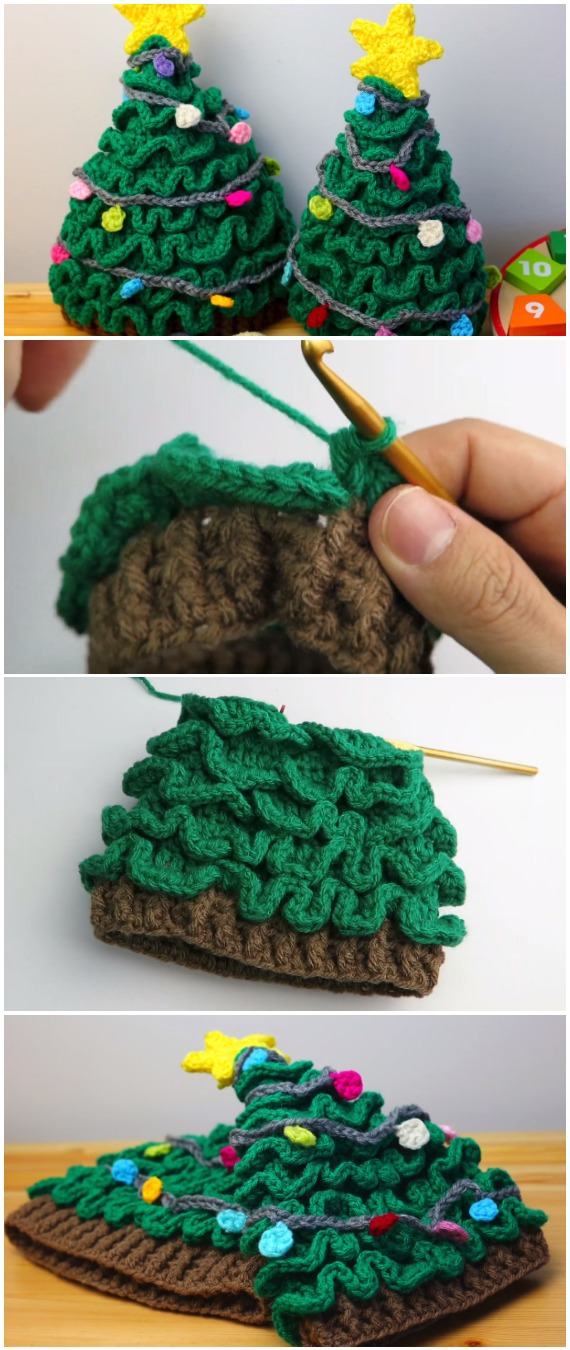 Learn To Crochet Easy Christmas Tree Hat